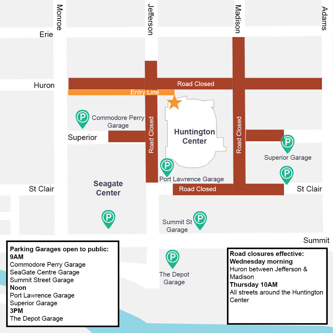 Transportation Information For President Trump's Downtown